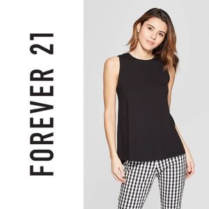 Forever 21 Black Lace Shoulder Trim Tank Top